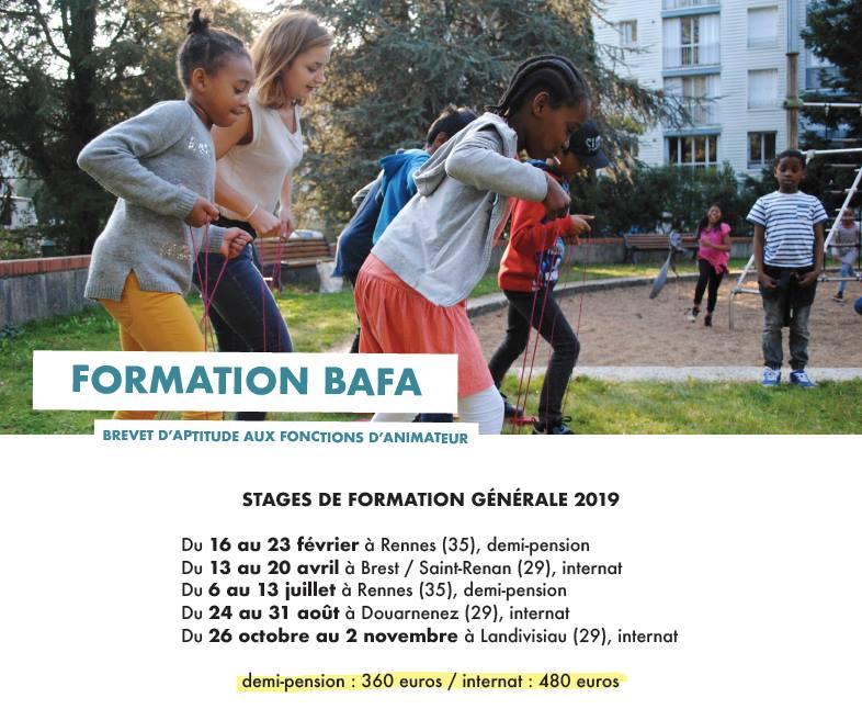 Prochain stage BAFA, à Rennes, juillet 2019